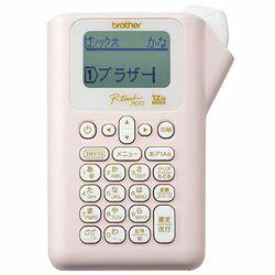 ブラザー ピータッチ ラベルライター ピンク PT-J100P 目安在庫=△