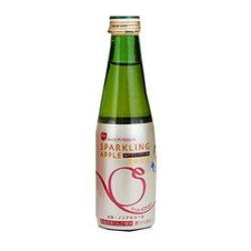 お祝い パーティーに最適!青森リンゴ使用 ノンアルコール スパークリングアップルジュース瓶 200ml×24本 目安在庫=○