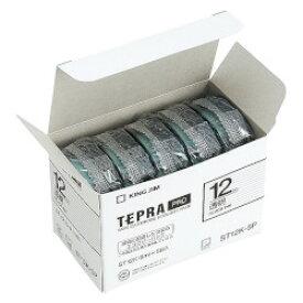キングジム PROテープ5個パック 透明ラベル 12mm幅 透明 ST12K-5P 目安在庫=○