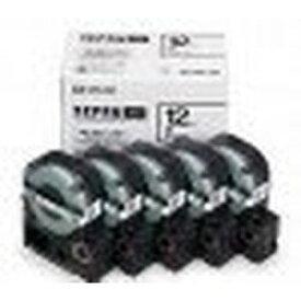 キングジム SS12K-5P PROテープエコパック 白ラベル黒文字 5個入 目安在庫=△