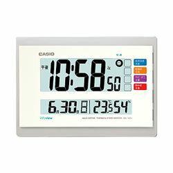 カシオ計算機 電波置き掛け兼用時計デジタル ホワイト IDL-140J-7JF メーカー在庫品