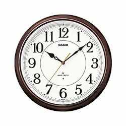 カシオ計算機 電波掛け時計アナログ 濃茶 IQ-1051NJ-5JF メーカー在庫品