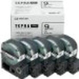 キングジム PROテープエコパック白ラベル 9mm SS9K-5P 目安在庫=○