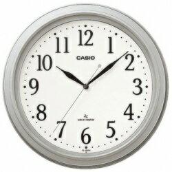 カシオ計算機 電波掛け時計アナログ シルバー IQ-1005J-8JF メーカー在庫品