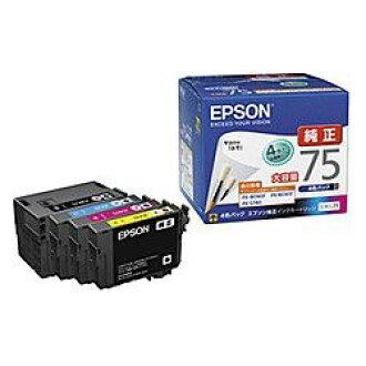 供純正的物品EPSON(愛普生)IC4CL75商務噴墨使用的墨盒(四色包)(IC4CL75)大致目標庫存=○