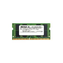 バッファロー MV-D4N2400-B8G PC4-2400(DDR4-2400)対応260PIN DDR4 SDRAM S.O.DIMM 取り寄せ商品