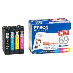 純正品 EPSON (エプソン) IC4CL69 ビジネスインクジェット用 インクカートリッジ(4色パック) (IC4CL69) 目安在庫=○