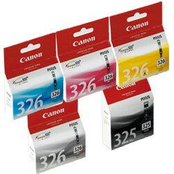 純正品 Canon キャノン 【純正インクセット】 BCI-326(C/M/Y/GY) 各1個+BCI-325PGBK 1個の計5個 (canoninkset-23) 目安在庫=△