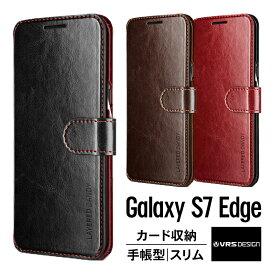 Galaxy S7 Edge ケース 手帳型 マグネット 式 ベルト スリム 手帳 レザー カバー ギャラクシー S7 エッジ SC-02H SCV33 カード 収納 ポケット 付き Samsung GalaxyS7 Edge ギャラクシーS7エッジ 対応 VRS Design VERUS Dandy Layered