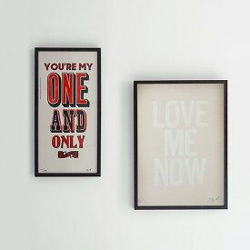 【ATPPL】Typography Poster/M size(8柄) A TWO PIPE PROBLEM LETTERPRESS アートポスター 活版印刷 MILES OF SMILES Stephen Kenny ステファンケニー メッセージポスター インテリア