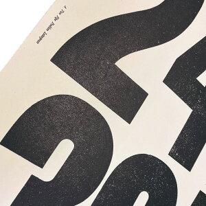 NEW【ATPP】TypographyPoster/3Msize360mm×560mm(3柄)ATWOPIPEPROBLEMLETTERPRESSアートポスター活版印刷MILESOFSMILESStephenKennyステファンケニーメッセージポスターインテリア新作手仕事