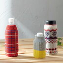 【BOTOCO】 チェック (2色) ボトルカバー ペットボトルカバー ボトコ 編み地モチーフ ヘミングス