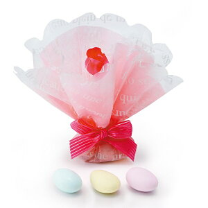 プチギフト プチローズプリンセス ピンク1個 結婚式 子供 激安 お菓子 かわいい ブライダル ウェディング ウエディング