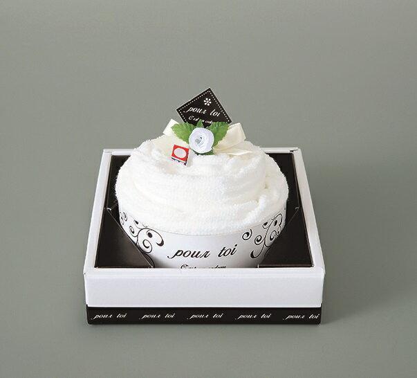 ギフト プルトワホワイトケーキタオルPT-30100 ウエディングギフト 結婚祝い 内祝 プレゼント 引出物 今治タオル 日本製