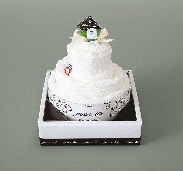ギフト プルトワホワイトケーキタオルPT-30150 ウエディングギフト 結婚祝い 内祝 プレゼント 引出物 今治タオル 日本製