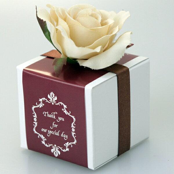 プチギフト 結婚式 ファインローズ ベージュ(クランチ2個入)チョコレート プチギフト 結婚式 ウェディング 二次会 お菓子 プレゼント チョコ