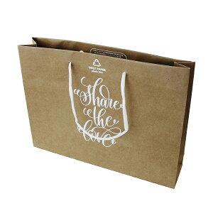 紙袋 ALL PAPER 紙袋 ギフトバッグ 地球に優しい紙袋 PB-001-P 引出物 結婚式 ブライダル バッグ クラフト A4 サイズ 資料 角2封筒 サイズ ピッタリ 資料用 SDGS