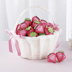 プチギフト まるごといちごピュアショコラ38個セット かご付き 退職 結婚式 チョコレート お菓子 結婚式