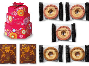 La mour ガーリーBOX アソートセットC 引菓子 内祝 焼菓子 バウムクーヘン バームクーヘン 詰合せ
