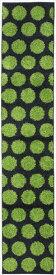 山崎産業  キッチンマット レシピ リングBR(グリーン) 45×240cm