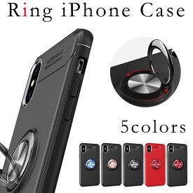 送料無料 iPhone11 iPhone7 iPhone8 リング ケース ソフト iPhone6 iPhone6s iPhoneSE iPhone5s スマホケース アイフォンケース