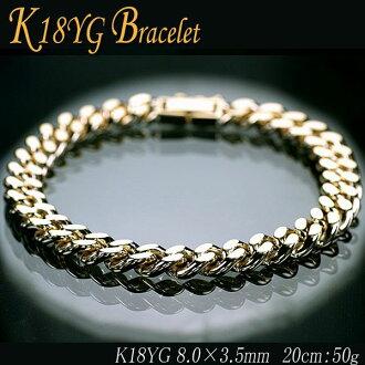 K18 Kihei (Kihei) 2 cut bracelet 20 cm 50 g / (Bureau of engraving and printing test engraved pieces)