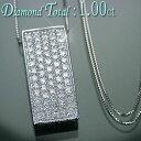 ダイヤモンド ネックレス K18WG ホワイトゴールド 天然ダイヤ 1.00ct ペンダント/送料無料