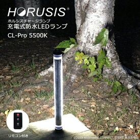HORUSIS CL-Pro 5500K 700LM Type 充電式 防水 LED 作業灯 投光器 ホルシス チャージランプ CHARGE LAMP 白色光 明るさ最大700LM 明るさ3段階 防塵防水性能IP68 リモコン付き ライト ワークライト LEDライト 照明 撮影用ライト 完全防水 コードレス