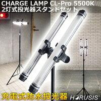 HORUSISCHARGELAMPCL-Pro5500K2灯式投光器スタンドセット