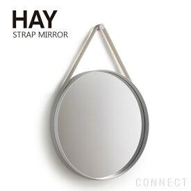 【取寄品】HAY(ヘイ) / STRAP MIRROR φ50cmミラー / グレー