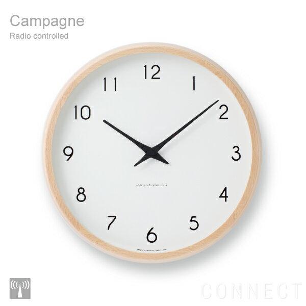 電波時計 / LEMNOS ( レムノス ) 掛け時計 /Campagne(カンパーニュ) PC10-24W 壁掛け 掛時計 【送料無料】
