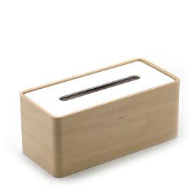 LEMNOS(レムノス)/Da design arraySTOCK ホワイト ティッシュケース 木製ティッシュボックスケース ティッシュカバー