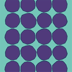 marimekko(マリメッコ) キヴェットKivet ファブリック ターコイズ×パープル北欧 ファブリック(生地) パネル クッション カーテンにオススメの北欧 ファブリック(生地) (柄リピート単位・62cmカット)