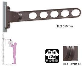 川口技研 ホスクリーン 物干金物窓枠用新スタンダード型 RK-55-DB(ダークブロンズ) 2本セット