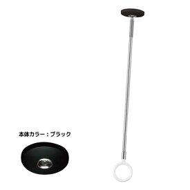 室内物干し 川口技研 [SPCL-BL] ホスクリーンスポット型 部屋干し 2本セット ベースカラー:黒