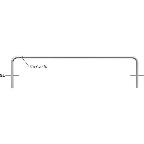 メーカー直送 サンポール ジョイント自転車アーチ φ42.7(t2.0)×WP2400×H350mm カラー:ステンレス [AA-42UJ-2400]