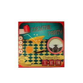 メーカー直送 東洋石創 The GROBAL MARKET(グローバルマーケット) ウッドボード(COCKTAIL PARTY) [28622] 海外雑貨 輸入雑貨 W400×H400×D30 ○