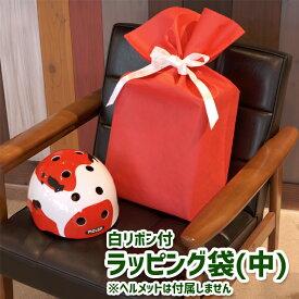 ラッピング ソフトバッグ SOFTBAG 巾着袋 中 45-64 底マチ付巾着袋 赤 レッド Mサイズ 1枚 不織布 シンプル おしゃれ
