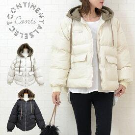 スウェットフーデット中綿ジャケット 中綿コート レディース ショート丈 温かい フェイクダウン オーバーサイズ 大きいサイズ ゆったり アウター 羽織り ブルゾン 冬 スエット 大人カジュアル 抜け感