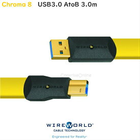 WIREWORLD ワイヤーワールドUSB3.0ケーブル TypeA-TypeB 3.0mChroma8 C3AB