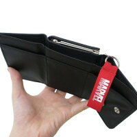 送料無料マーベル三つ折り財布ホワイトブラッククラックスジュニアウォレットギフトこども小学生キッズ財布子供コインケースパスケース定期入れリール付き伸びる伸縮かわいい