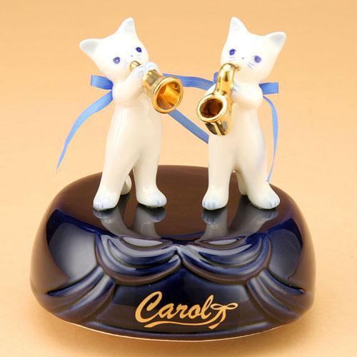 キャロル オルゴール ペアB/プレゼント/可愛い//お祝い/贈り物/ねこ/キャット/ねこ雑貨/アニマル雑貨