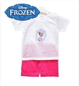 【アナと雪の女王】夏部屋着、半はんそでのシャツ、綿100% パジャマ ルームウェア 幼児用 アナ エルサFrozen/ Elsa/ Anna 子供上下セット、トップス、ボトム、女の子ルームウェア 寝巻