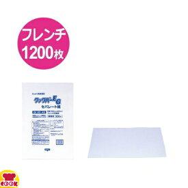 クックパーEG セパレート紙 EK60-40角型フレンチ天板用 600×400mm 300枚入×4(送料無料 代引不可)