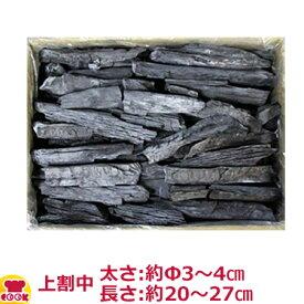 ベトナム備長炭 上割中 15kg入(太さ:約Φ3〜4cm、長さ:約20〜27cm)(送料無料 代引不可)