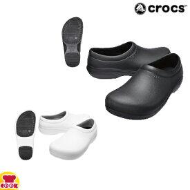 クロックス オンザクロック ワーク スリップオン ブラック・ホワイト 22.0〜29.0cm(代引OK)