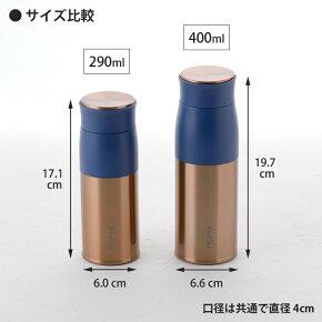290mlと400mlのサイズ比較