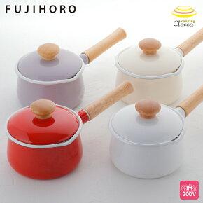 富士ホーロー,ホーロー鍋,琺瑯鍋,ミルクパン,フタ付き,片手鍋