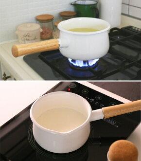 富士ホーロー,ホーロー鍋,琺瑯鍋,ミルクパン,フタ付き,片手鍋.15cm