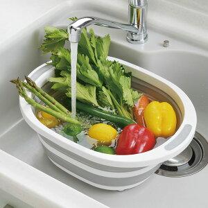 デイズ 折り畳み 洗い桶 DS-09 タマハシ【水切りかご 折りたたみ/キッチン/洗濯桶】